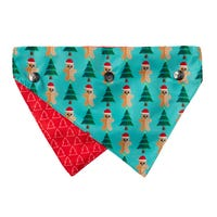FuzzYard GingerBread Christmas Bandana - Small/Medium