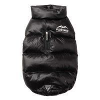FuzzYard Harlem Jacket Black Dog Coat - Size 3