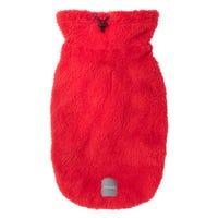 FuzzYard Turtle Teddy Sweater Red Dog Coat - Size 5