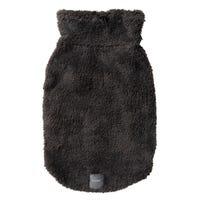 FuzzYard Turtle Teddy Sweater Charcoal Dog Coat - Size 5