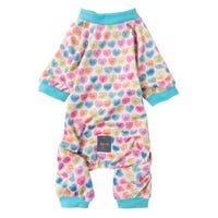 FuzzYard Pyjamas Candy Hearts Dog Coat - Size 6