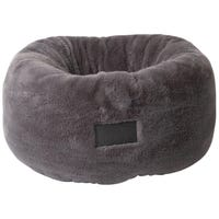La Doggie Vita Plush Donut Charcoal Dog Bed - Large