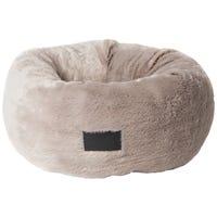 La Doggie Vita Plush Donut Taupe Fleck Dog Bed - Large