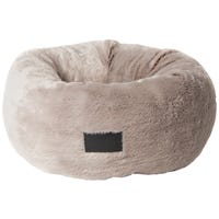 La Doggie Vita Plush Donut Taupe Fleck Dog Bed - Small