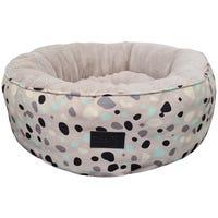La Doggie Vita Leo Spot Taupe Dog Bed - Small