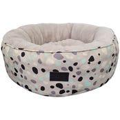La Doggie Vita Leo Spot Taupe Dog Bed - Medium