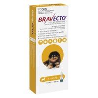 Bravecto Flea & Tick Extra Small Dog 2-4.5kg Spot On - 1pk