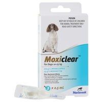Moxiclear Flea & Worm Treatments For Dogs 10-25kg - 3pk