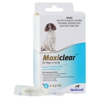 Moxiclear Flea & Worm Treatments For Dogs 10-25kg - 6pk