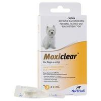 Moxiclear Flea & Worm Treatments For Dogs 4-10kg - 3pk