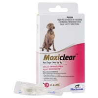 Moxiclear Flea & Worm Treatments For Dogs Over 25kg - 3pk