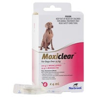 Moxiclear Flea & Worm Treatments For Dogs Over 25kg - 6pk