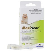Moxiclear Flea & Worm Treatments For Dogs Up To 4kg - 3pk