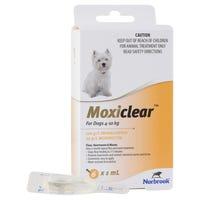 Moxiclear Flea & Worm Treatments For Dogs 4-10kg - 6pk