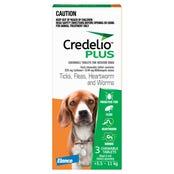 Credelio Plus Dog Flea Tick & Worming Chews 5.5-11Kg - 3pk