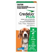 Credelio Plus Dog Flea Tick & Worming Chews 5.5-11Kg - 6pk