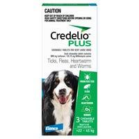 Credelio Plus Dog Flea Tick & Worming Chews 22-45Kg - 3pk