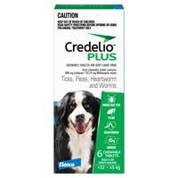 Credelio Plus Dog Flea Tick & Worming Chews 22-45Kg - 6pk
