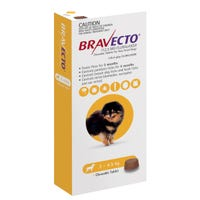 Bravecto Flea & Tick Extra Small Dog 2-4.5kg Chew - 1pk