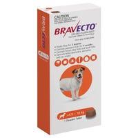 Bravecto Flea & Tick Small Dog 4.5-10kg Chew - 1pk