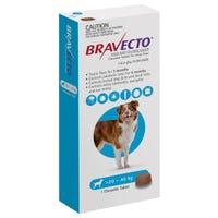 Bravecto Flea & Tick Large Dog 20-40kg Chew - 1pk