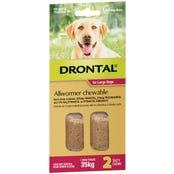 Drontal Wormer Large Dog 35kg Chews - 2pk
