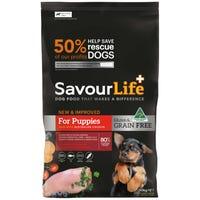 SavourLife Grain Free Puppy Chicken Dry Dog Food - 10kg