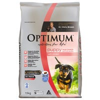 Optimum Puppy Large Breed Chicken Dry Dog Food - 15kg