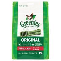 Greenies Treat Regular Dental Dog Treats Pack - 12pk
