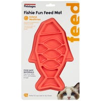 Petstages Fishie Fun Feed Mat Slow Cat Feeder - Each