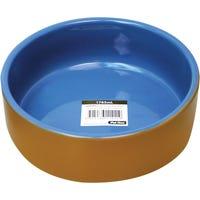 Pet One Terracotta Blue Glazed 19.6Cm Pet Bowl - 1765ml