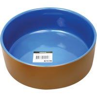 Pet One Terracotta Blue Glazed 22.5Cm Pet Bowl - 2900ml