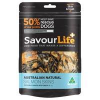 SavourLife Australian Salmon Skins Dog Treats - 125g