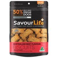 SavourLife Australian Beef Flavour Biscuits Dog Treats - 500g