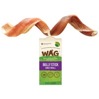 WAG Curly Bully Dog Treat - Small