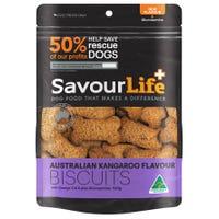 SavourLife Australian Kangaroo Biscuits Dog Treats - 500g