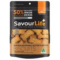SavourLife Australian Peanut Butter Biscuit Dog Treats - 500g