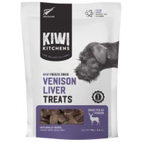 Kiwi Kitchens Freeze Dried Venison Liver Heart Dog Treats - 110g