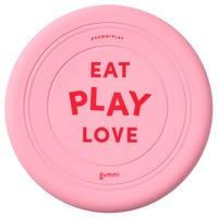 Gummi Silicone Frisbee Pink Dog Toy - Each