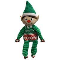 KONG Christmas Floppy Knots Elf Dog Toy - Medium