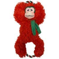 KONG Christmas Tuggz Monkey Dog Toy - Extra Large