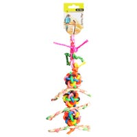 Avi One Balls With Bells & Corrugated Board  Bird Toy - 26cm