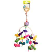 Avi One Arc With Wooden Blocks & Beads Bird Toy - 34cm