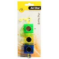 Avi One 3 Rectangle Boxes With Mirror Bell Bird Toy - 20cm