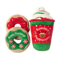 FuzzYard Christmas Reindeer/Pup/Donuts Dog Toy - Each