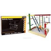 Avi One Activity Centre Coloured Wood Bird Toy - Each