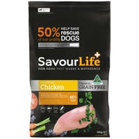 Savour Life Grain Free Chicken Dry Dog Food - 10kg