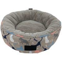 La Doggie Vita Catisse Taupe Round Cat Bed - Each