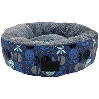 La Doggie Vita Go Fish Indigo Round Cat Bed - Each