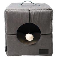 La Doggie Vita Foldable Cube Grey Cat Bed - Each